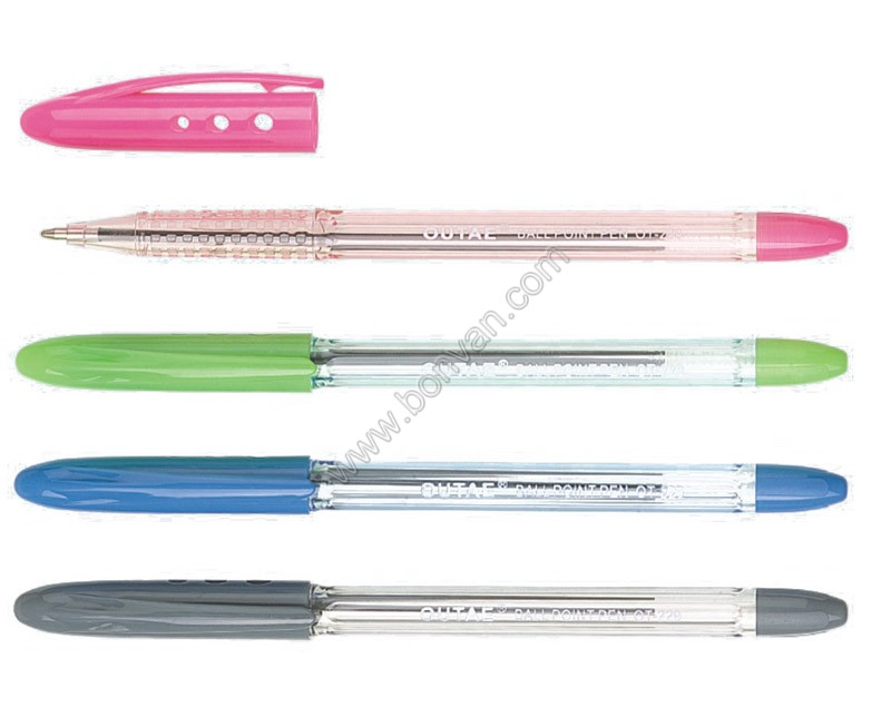 transparent plastic pen