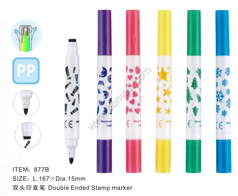 Double Tip Stamp Marker Pen