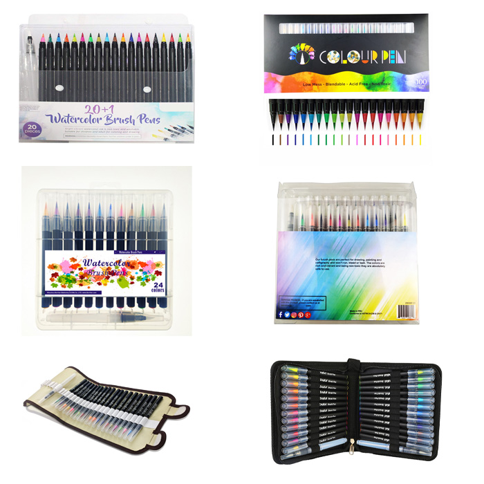 watercolor brush pen package